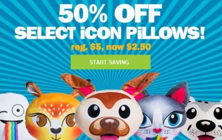 50% Off Select Icon Pillows from Five Below