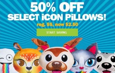 50% Off Select Icon Pillows