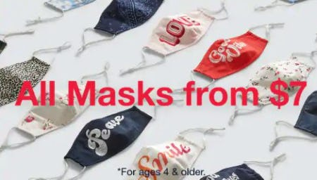 All Masks from $7
