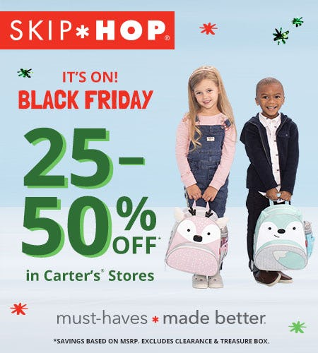 It's On! 25-50% Off Skip Hop from Carter's Oshkosh