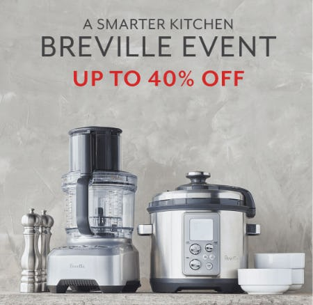 Up to 40% Off Breville Event