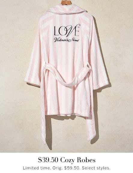 $39.50 Cozy Robes from Victoria's Secret