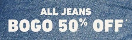 All Jeans BOGO 50% Off