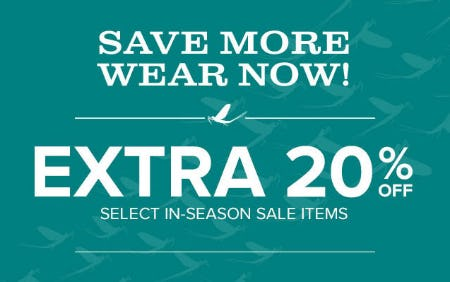 Extra 20% Off Select In-Season Sale Items from Orvis