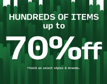 Hundreds of Items up to 70% Off