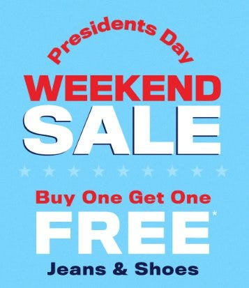 Presidents Day Weekend Sale from rue21
