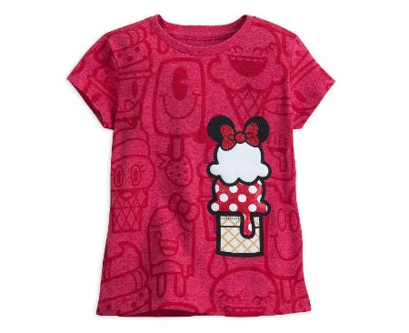 Minnie Mouse Ice Cream Cone T-Shirt for Girls from Disney Store
