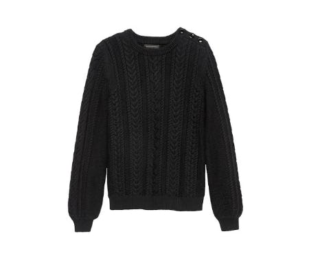 Cotton-Blend Cable-Knit Sweater from Banana Republic
