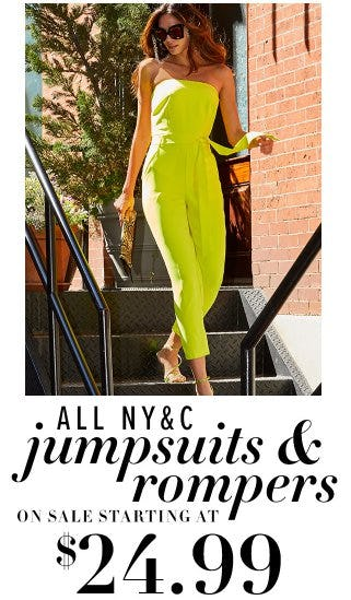 All NY&C Jumpsuits & Rompers on Sale Starting at $24.99 from New York & Company