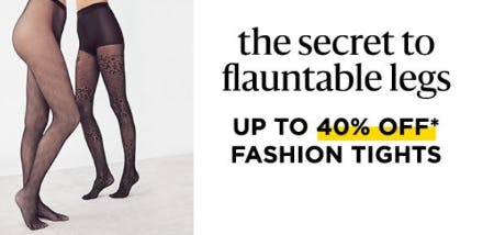 Up to 40% Off Fashion Tights
