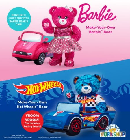 Hot Wheels™ and Barbie™ from Build-A-Bear Workshop