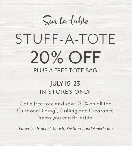 It's Stuff-A-Tote Time at Sur La Table from Sur La Table