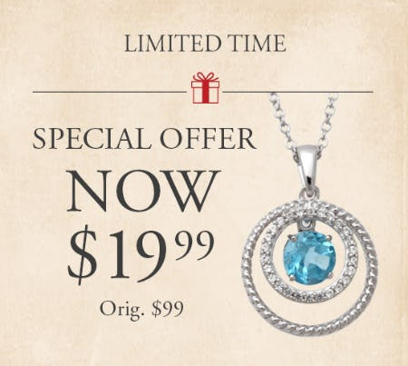Select Jewelry for Only $19.99