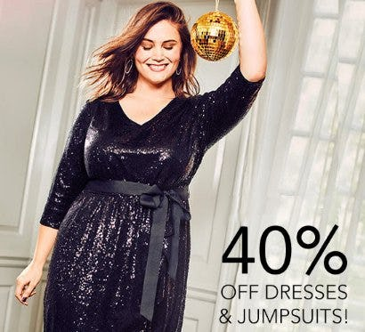 40% Off Dresses & Jumpsuits from Lane Bryant