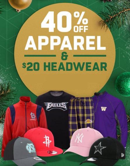40% Off Apparel & $20 Headwear from Lids