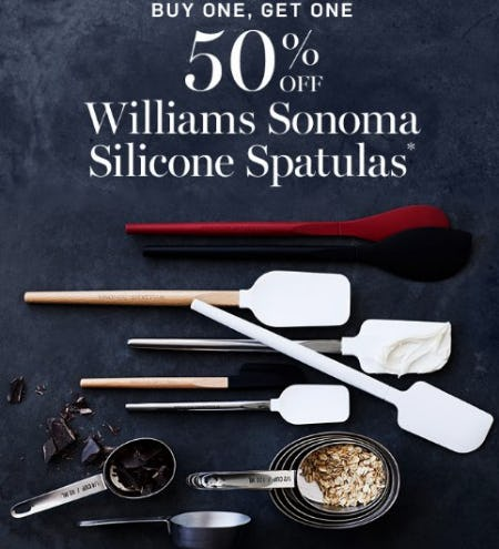 Buy One, Get One 50% Off Williams Sonoma Silicone Spatulas from Williams-Sonoma