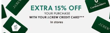 Extra 15% Off Your Purchase from J.Crew