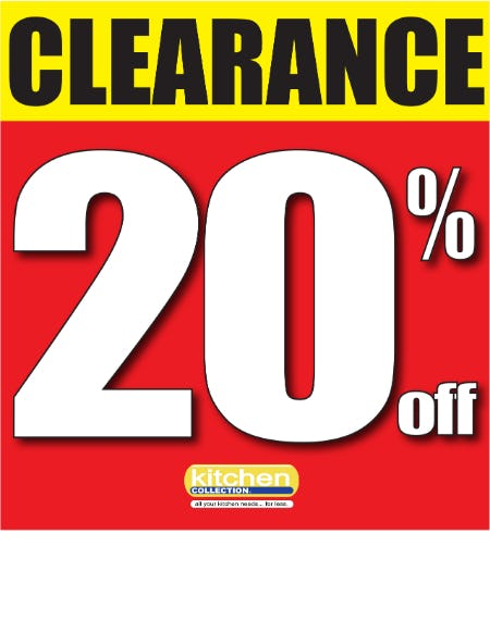 Additional Clearance Savings from Kitchen Collection