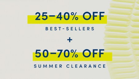25-40% Off Best Sellers + 50-70% Off Summer Clearance from Cole Haan