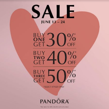 Buy More Save More from PANDORA