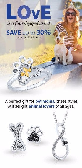 Save up to 30% on Select Pet Jewelry