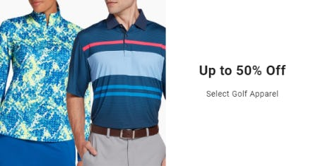 Up to 50% Off on Select Golf Apparel from Golf Galaxy