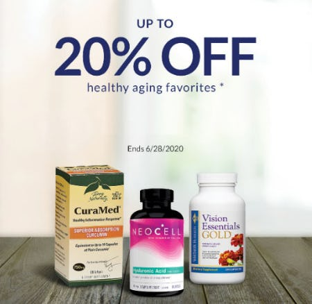 Up to 20% Off Healthy Aging Favorites from The Vitamin Shoppe