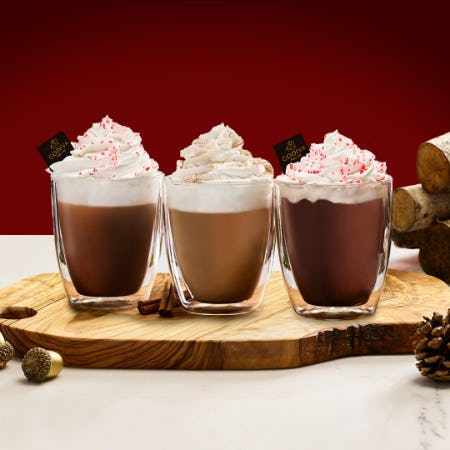 Warm up with GODIVA this Holiday Weekend! from Godiva Chocolatier