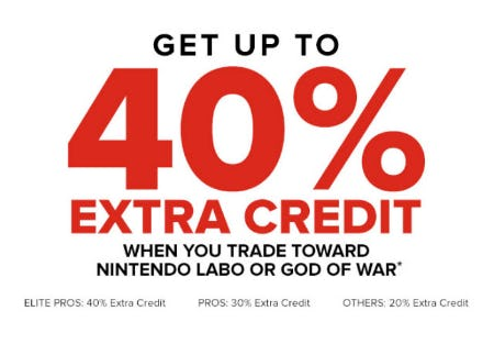 Get Up to 40% Extra Credit