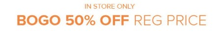 BOGO 50% Off Reg Price from Torrid