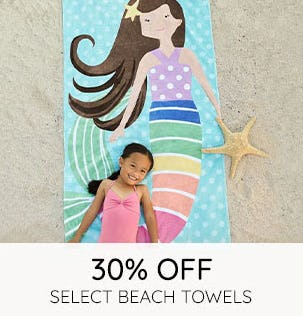 30% Off on Select Beach Towels
