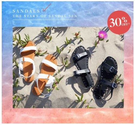 30% Off Sandals
