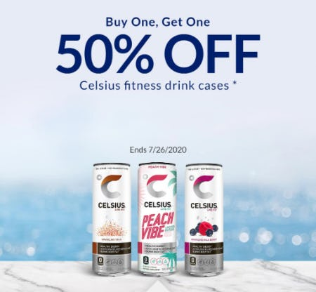 BOGO 50% Off Celsius Fitness Drink Cases from The Vitamin Shoppe