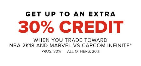 Extra 30% Off Credit
