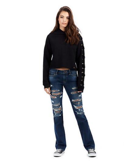 Billie Straight Destroyed Chain Womens Jean