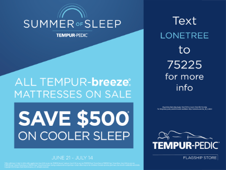 All TEMPUR-breeze Mattresses on Sale - Save $500 on cooler sleep
