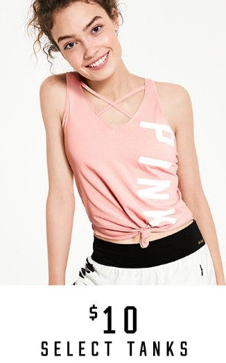 $10 Select Tanks from Victoria's Secret