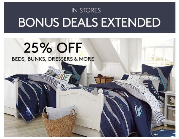 25% Off Beds, Bunks, Dresses & More