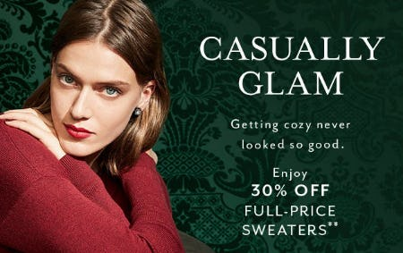 Enjoy 30% Off Full-Price Sweaters