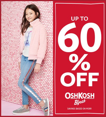 Great Gifts Up to 60% Off from Oshkosh B'gosh