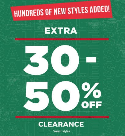 Extra 30-50% Off Clearance from Tillys
