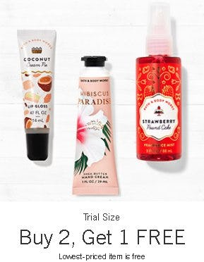 Trial Size Buy 2, Get 1 Free