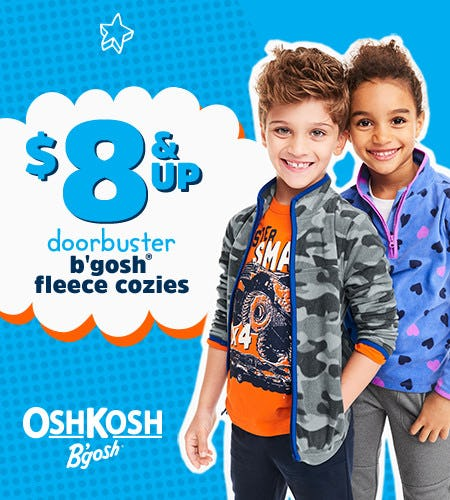 $8 & Up Doorbuster B'gosh Fleece Cozies