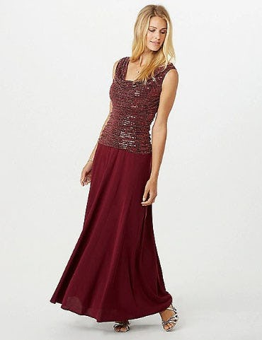 Draped Sequin Top Dress At Dress Barn Misses And Woman Oakwood Center