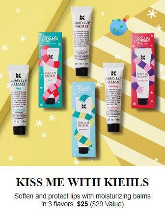 $25 Three Lip Balms from Kiehl's