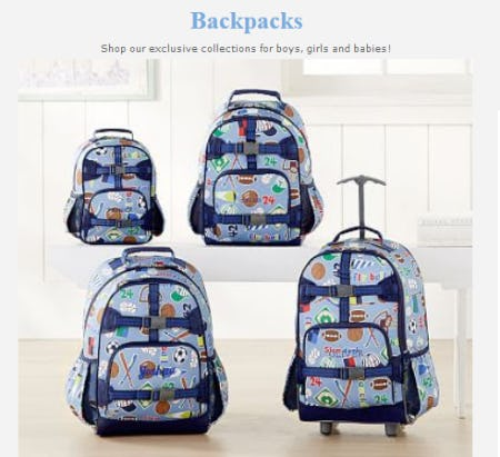 Explore Our Backpacks