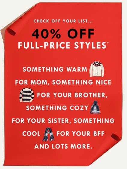40% Off Full-Price Styles