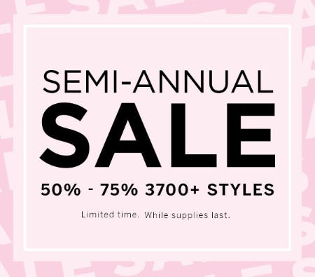 Semi-Annual Sale: 50%-75% 3700+ Styles from Victoria's Secret