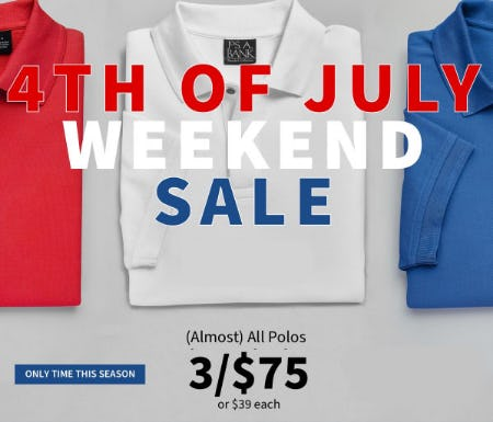 3 for $75 Polos from Jos. A. Bank