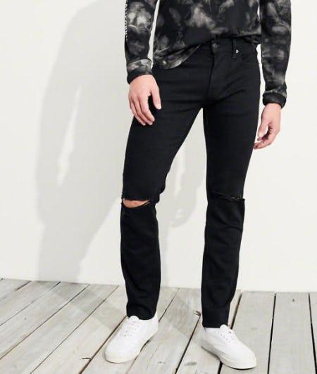 Advanced Stretch Skinny No Fade Jeans